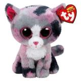 Jucarie Plus 24 cm Beanie Boos Lindi cat pink TY