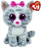 Jucarie Plus 24 cm Beanie Boos Kiki Grey Cat TY