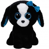 Jucarie plus 24 cm Beanie Boos TRACEY - black/white dog TY