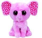 Jucarie Plus 24 cm Beanie Boos Sugar Pink Elephant Med TY