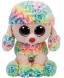 Jucarie Plus 24 cm Beanie Boos Rainbow Multicolor Poodle TY