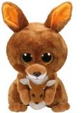 Jucarie plus 24 cm Beanie Boos KIPPER - brown kangaroo TY