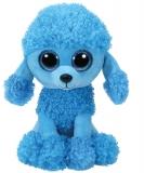 Jucarie plus 24 cm Beanie Boos MANDY - blue poodle TY