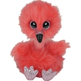 Jucarie plus 24 cm Beanie Boos Franny long neck flamingo TY