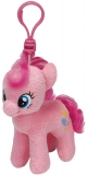 Jucarie Plus cu breloc 11 cm My little pony Lic Clip Pinkie Pie TY