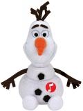 Jucarie Plus cu sunet 15 cm Beanie Babies Lic Disney Olaf Snowman TY
