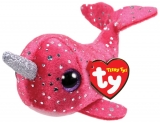 Jucarie plus 10 cm Teeny Tys NELLY - pink narwhal TY