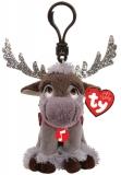 Jucarie plus cu breloc si sunete, 8.5 cm, Beanie Babies Frozen 2 Sven Reindeer TY