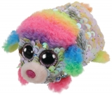 Jucarie plus 10 cm Teeny Tys Flippables Rainbow Poodle TY