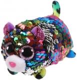 Jucarie plus 10 cm Teeny Tys Flippables Dot Multicolor Leopard TY