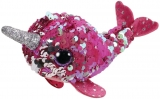 Jucarie plus 10 cm Teeny Tys Flippables Nelly Pink Narwhal TY