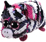 Jucarie plus 10 cm Teeny Tys Flippables Zoey Pink Zebra TY