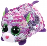 Jucarie plus 10 cm Teeny Tys Flippables Lilac Purple-Iridescent Cat TY