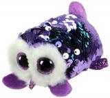 Jucarie plus 10 cm Teeny Tys Flippables Moonlight Purple Owl TY