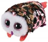 Jucarie plus 10 cm Teeny Tys Flippables Checks Pink-Black Owl TY