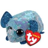 Jucarie plus 10 cm Teeny Tys Flippables Stuart Elephant TY