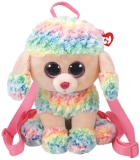 Ghiozdan plus 25 cm Ty Gear Rainbow multicolor poodle TY
