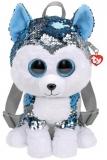 Ghiozdanel cu paiete jucarie de plus, Fashion Sequins Slush Husky, 25 cm, TY