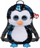 Ghiozdanel cu paiete jucarie de plus, Pinguinul Waddles, 25 cm, TY