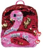 Ghiozdan plus 25 cm Ty Fashion Gilda Flamingo TY