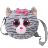 Geanta de umar plus 24 cm Ty Gear Kiki Grey Cat Ty