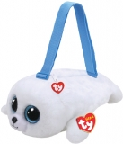 Geanta de umar plus 15 cm Ty Fashion Icy white seal TY