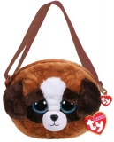 Geanta de umar plus 15 cm Ty Fashion Duke brown-white dog TY