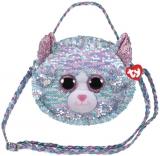 Geanta de umar plus 15 cm Ty Fashion Whimsy Cat TY