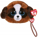 Poseta plus 10 cm Ty Fashion wristlet DUKE - brown-white dog TY