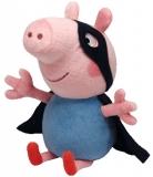Jucarie Plus 28 cm Beanie Babies Lic Peppa Pig George Superhero TY
