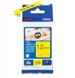 Banda de etichete P-touch TZe 12 mm x 4 m negru pe galben Brother