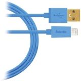 Cablu de date USB, Lightning pentru Apple iPhone, albastru Hama