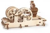 Puzzle 3D, lemn, mecanic Motor pneumatic, 81 piese, Ugears
