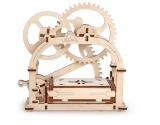 Puzzle 3D, lemn, mecanic Cutie mecanica, 61 piese, Ugears