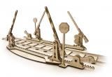 Puzzle 3D, lemn, mecanic Sine tren, 200 piese, Ugears