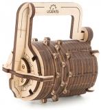 Puzzle 3D, lemn, mecanic Cifru, 34 piese, Ugears
