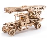 Puzzle 3D, lemn, mecanic Camion UGM-11 Pompier 537 piese, Ugears