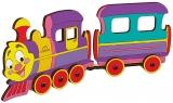 Puzzle 3D, lemn, mecanic Locomotiva, 15 piese, Ugears