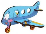 Puzzle 3D, lemn, mecanic Avion, 15 piese, Ugears
