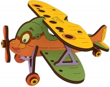 Puzzle 3D, lemn, mecanic Avion, 23 piese, Ugears