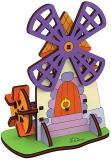 Puzzle 3D, lemn, mecanic Moara, 23 piese, Ugears
