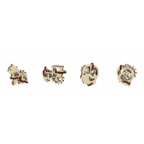 Puzzle 3D, lemn, mecanic U-Fidget Tribiki, 13-19 piese, 4 buc/set Ugears