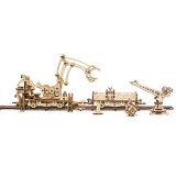 Puzzle 3D, lemn, mecanic Manipulator pe sine, 356 piese, Ugears