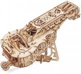 Puzzle 3D, lemn, mecanic Hurdy-Gurdy, 292 piese, Ugears