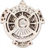 Puzzle 3D, lemn, mecanic Calendar Mecanic, 21 piese, Ugears