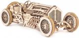Puzzle 3D, lemn, mecanic  U-9 Grand Prix Car, 348 piese, Ugears