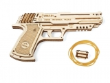 Puzzle 3D, lemn, mecanic Pistol Wolf, 62 piese, Ugears