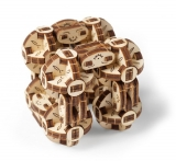 Puzzle 3D, lemn, mecanic Flexi-cubs, 144 piese, Ugears