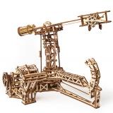 Puzzle 3D, lemn, mecanic Aviator, 726 piese, Ugears