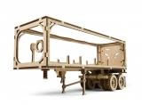 Puzzle 3D, lemn, mecanic Remorca pentru camion VM-02, 138 piese, Ugears